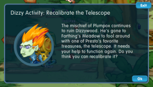 Re-calibrate the telescope in Dizzywood