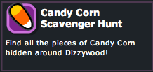 Dizzywood Candy Corn Scavenger Hunt