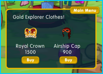Dizzywood Gold Explorer clothes