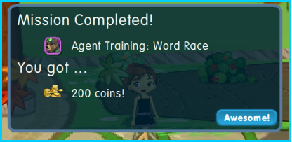Dizzywood Agent Training 200 coins