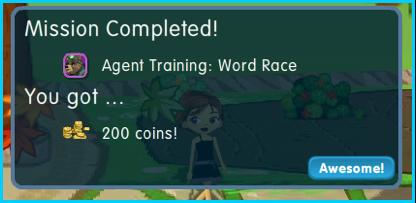 Dizzywood Agent Training 200 coins