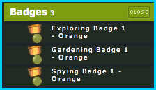 Orange Badges