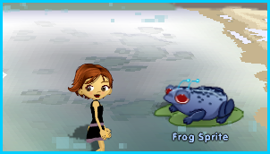 The Frog Sprite in Tanglevine Jungle