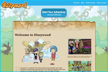 Dizzywood New Web Page
