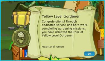 Yellow Gardener Badge in Dizzywood