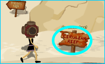 Entrance to Cerulean Reef