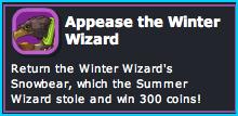Appease the Winter Wizard in Dizzywood