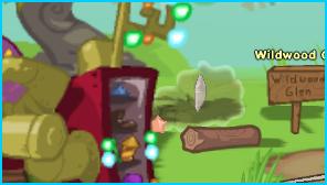Sky Crystal behind pile of wood