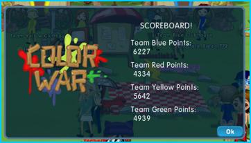 Dizzywood Color War Scoreboard