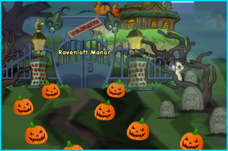 Ravenloft Manor in Dizzywood on Halloween
