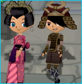 Dizzywood Samurai and Kimono Outfits