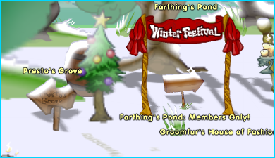 Dizzywood Winter Festival Entrance